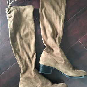 Zara Suede Brown tall boots size 36